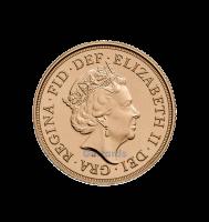 2018 half gold sovereign reverse
